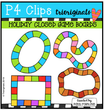 Holiday Closed Game Boards (P4 Clips Trioriginals) HOLIDAY CLIPART