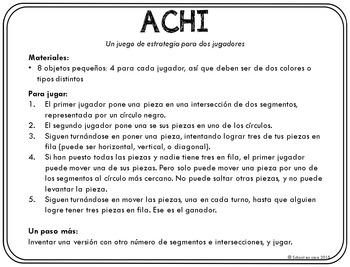 Spanish Math Centers: Juegos de estrategia (Math Strategy Games): Set 1