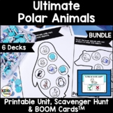 Polar Animals Language Unit and BOOM Cards BUNDLE for Pre-
