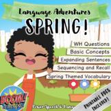 SPRING, Boom Cards Speech Therapy, Spring Activities, Gardening, Homework