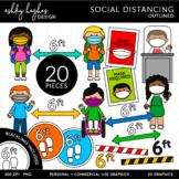 Social Distancing - Outlined [Ashley Hughes Design]