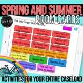Spring and Summer Themed Boom Cards™ for Speech Therapy