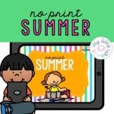 Summer No Print Preschool Language Unit