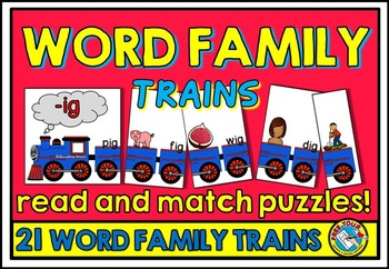 WORD FAMILIES: WORD FAMILY PUZZLES: CVC WORD FAMILY ACTIVITY