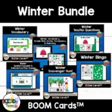 Winter BOOM Cards for PreK Speech Therapy BUNDLE