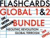 FLASHCARDS: GLOBAL I AND II BUNDLE ENTIRE COURSE