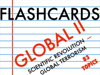 FLASHCARDS GLOBAL II