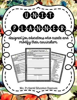 Unit Planner: Designed for Educators who Create & Modify Curriculum