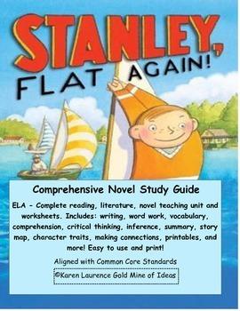 FLAT STANLEY, Stanley, Flat Again ELA Reading Literature Study Guide