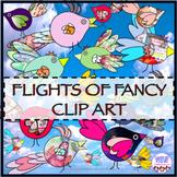Bird clipart, watercolor clip art