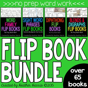 FLIP BOOK BUNDLE- 65+ word work books