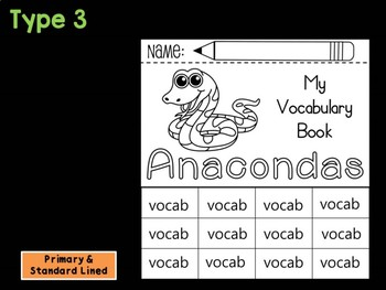 FLIP BOOK Bundle : Anacondas - Rainforest Animals : Research, Report, Jungle