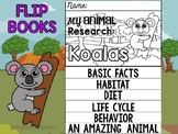 FLIP BOOK Bundle : Koalas - Zoo Animals : Research, Report, Australia