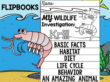 FLIP BOOK Bundle : Krill - Sea Ocean Animals : Research, Report, Crustacean