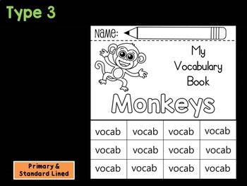 FLIP BOOK Bundle : Monkeys - Zoo Animals : Research, Safari, Africa, Rainforest