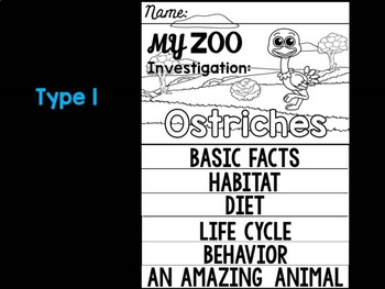 FLIP BOOK Bundle : Ostriches - Zoo Animals : Research, Safari, Africa, Savanna