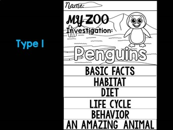FLIP BOOK Bundle : Penguins - Zoo Animals : Research, Polar and Arctic Animals