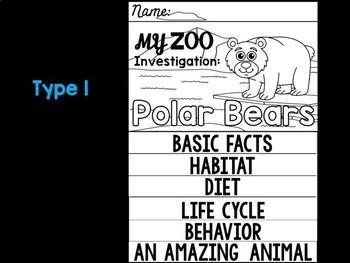 FLIP BOOK Bundle : Polar Bears - Zoo Animals : Research, Polar Arctic Animals