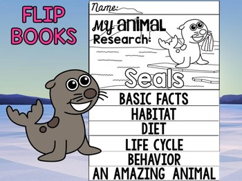 FLIP BOOK Bundle : Seals - Zoo Animals : Research, Polar Arctic Animals