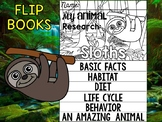 FLIP BOOK Bundle : Sloths - Zoo Animals : Research, Rainforest, Jungle