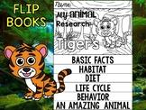 FLIP BOOK Bundle : Tigers - Zoo Animals : Research, Rainforest, Jungle