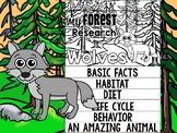 FLIP BOOK Bundle : Wolves - Forest Animals : Research, Unit Study Wolf