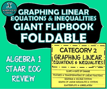 FLIP BOOK / FOLDABLE - Graphing Linear Equations - STAAR EOC REVIEW