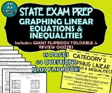 FLIP BOOK / FOLDABLE / QUIZZES - Linear Equations - STAAR