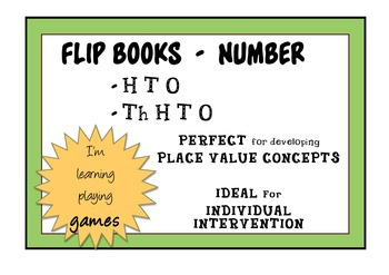 FLIP BOOK - Number - HTO AND ThHTO - INTERVENTION for PLACE VALUE Concepts