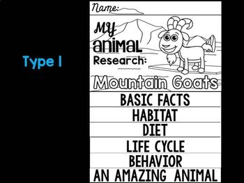 FLIP BOOK Set : Animal Research - Mountain Goats