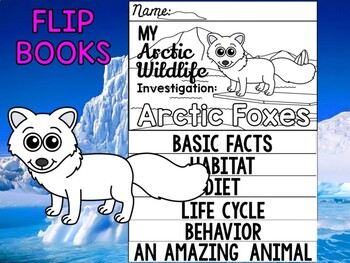 FLIP BOOK Set : Polar and Arctic Animal Research - Arctic Foxes