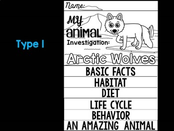 FLIP BOOK Set : Polar and Arctic Animal Research - Arctic Wolves
