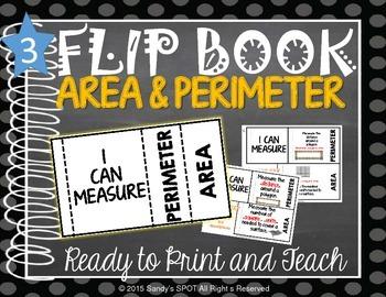 FLIP BOOK Perimeter and Area Virgina SOL 3.10
