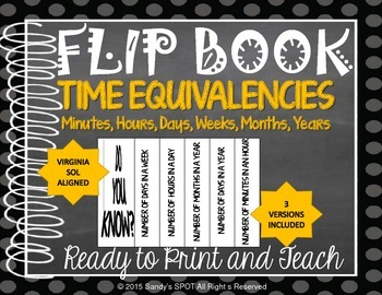 FLIP BOOK Time Equivalencies Virginia SOL 3.12
