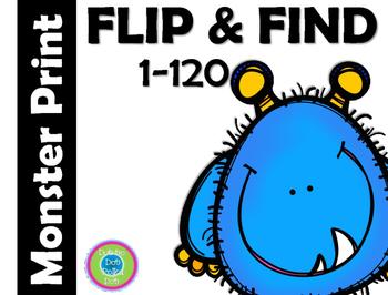 FLIP & FIND ~ 1-120 Math Center ~ MONSTERS!