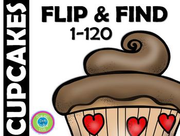 FLIP & FIND ~Math Center 1-120 ~ CUPCAKES!