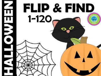 FLIP & FIND ~ Math Center 1-120 ~ HALLOWEEN!