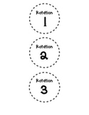 FLIP Guided Math Rotation Labels