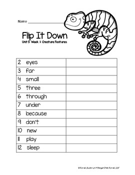 1st Grade FLIP-IT-DOWN Sight Word Mastery Game - Aligned w/REACH FOR READING