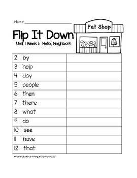 2nd Grade FLIP-IT-DOWN Sight Word Mastery Game - Aligned w/REACH FOR READING