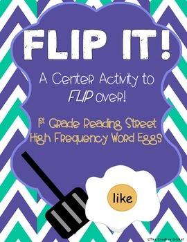 FLIP IT! Sight Word Eggs (1st Grade Reading Street HFW)