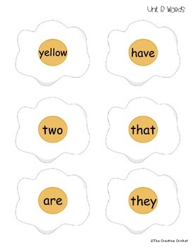 FLIP IT! Sight Word Eggs (1st Grade Reading Street High Frequency Words)