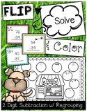FLIP, SOLVE, & COLOR -- 2 Digit Subtraction with Regrouping Pet Center