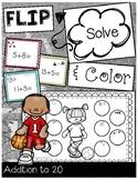 FLIP, SOLVE, & COLOR -- Addition to 20
