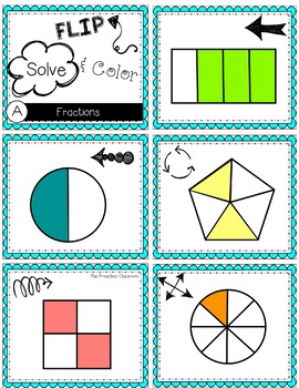FLIP, SOLVE, & COLOR Dinosaur-- Fractions (FLASH SALE!!)