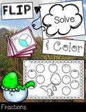 FLIP, SOLVE, & COLOR Dinosaur-- Fractions