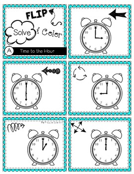 FLIP, SOLVE, & COLOR -- Time to the Hour