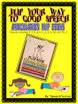 FLIP YOUR WAY TO GOOD SPEECH BUNDLE-S,L,R,SH,CH,B,K,CH,F,G