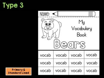 FLIPBOOK Bundle : Bears - Forest Animals : Research, Report, Woodland