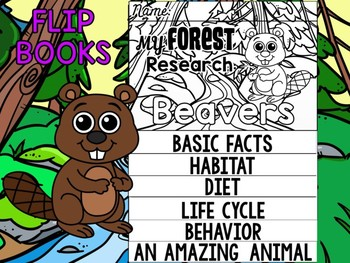 FLIPBOOK Bundle : Beavers - Forest Animals : Research, Report, Woodland